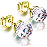 Alex Perry Regalo per Lei, Orecchini da Donna Fantastic World Series, Argento Sterling 925, 6mm Cristalli da Swarovski…