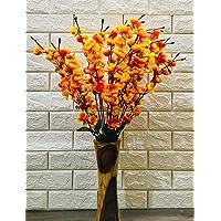 VTMT Petalshue® Artificial Peach Orange Blossom Flower Bunch for Home Decor Office | Artificial Flower Bunches for…