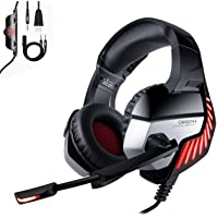 ONIKUMA - Cuffie per PS4 per Xbox One, PC, cuffie stereo Surround Gaming, auricolari con memoria morbida, cancellazione…