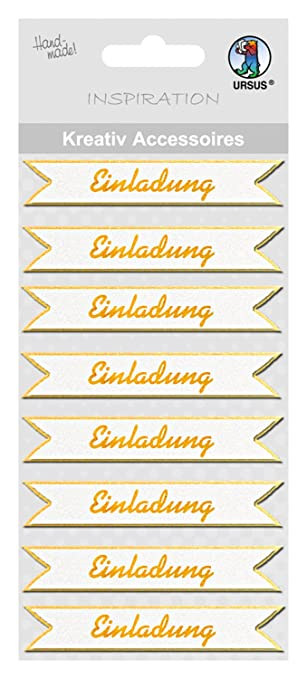 Ursus Kreativ Accessoires Einladung 8 Stück gold