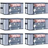 ARVANA Blanket Cover for Underbed Storage Bags Organizer, Clothes Covers Non Woven Containers for Wardrobe/Closet Organiser,