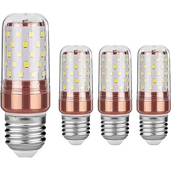 Gezee LED maíz bombilla 12W E27 3000K blanco cálido LED Candelabros bombillas, 100 W bombilla incandescente equivalente, 1200lm, LED vela bombillas No ...