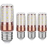 Gezee LED Mais Glühbirne E27 12W 100W Entspricht Glühbirnen Nicht dimmbar 3000K Warmweiß 1200lm Kleine Edison-Schraube Kerze Leuchtmittel (4er-Pack)