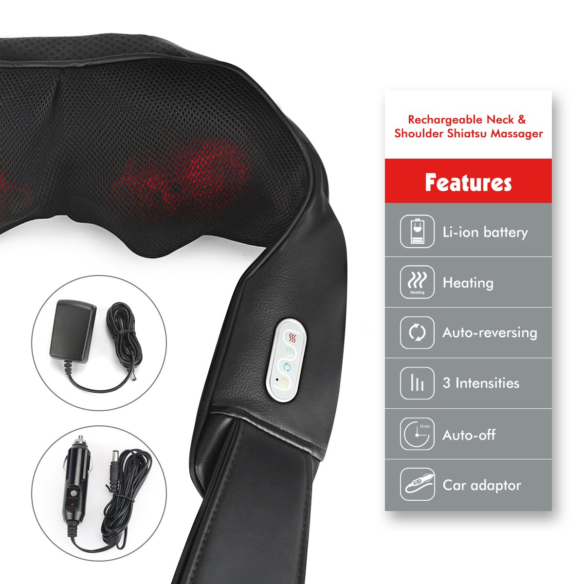 1byone Nackenmassagegerät mit Akku Umfang