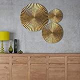Culture India Sunburst Bright Gold Color Metal Wall Art Hanging Wall Decoration Large Iron Wall Decor for Home/Office (3)