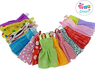 iDream Beautiful Handmade Party Dress Fashion Clothes for Barbie Doll (12 Pieces with Hanger)