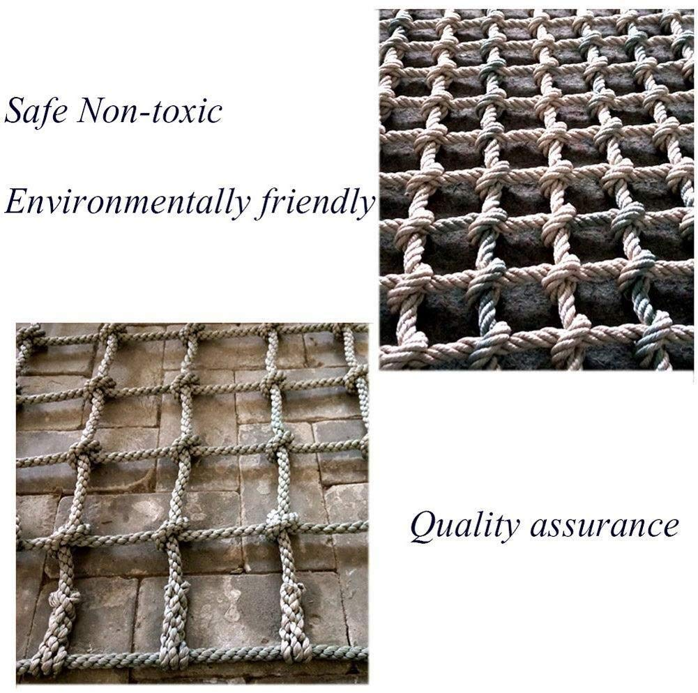 Safety net decoration / Climbing Safety Net for Balcony Banister Stair Protection Fence Rope Net Large Playground Tree Outdoor Mesh Indoor Anti-fall Net (Color : 15cm-14mm, Size : 1 * 8m/3.3 * 26ft) AI LI WEI Climbing Net Material: polyamide fibre. Net Climbing Wall Characteristics: Elastically extensible ability of small, weather resistant, wear resistant, long service life,environmentally friendly, non-toxic, quality assurance.This material can change color by itself. Climbing Cargo Net Mesh size*rope diameter: 20cm*14mm(7.8*11/20) , 15cm*14mm(6*11/20) , 25cm*16mm(9.8*5/8). Length*width: please make purchase according to your actual needs.We have any other size (rope diameter, mesh, length * width) rope net, support customization.If you have any questions or needs, please contact us. 4