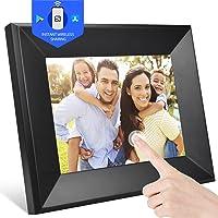 Digitaler Bilderrahmen 8 Zoll WLAN Elektronischer Fotorahmen, 1080P IPS Touchscreen, Foto/Musik/Video-Player Kalender…