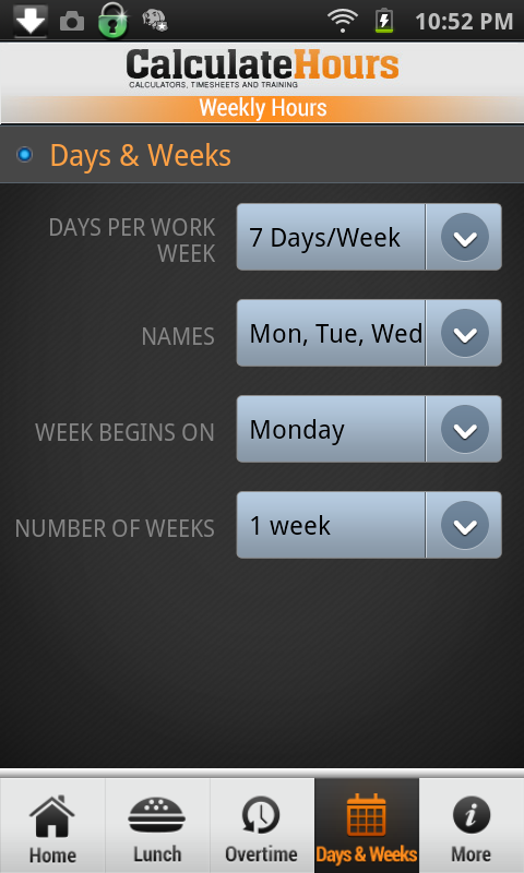 work time calculator with lunch