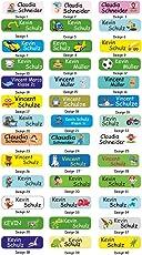 INDIGOS UG Namensaufkleber/Sticker / Namen - 5x1,5 cm - 60 Stück für Kinder, Schule und Kindergarten - individueller Druck - Bitte Geschenknachricht hinterlassen