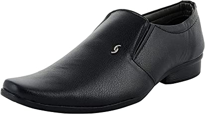 ROADSTAG Synthetic Leather Office and Corporate Lack Up Formal Shoes for Men