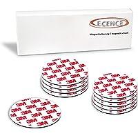 ECENCE Plaque aimantée adhésive ECENCE pour détecteur de fumée, 10 supports magnétiques autocollants, Ø 70mm, mise en…