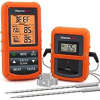 ThermoPro TP20 Thermomètre de Cuisson Numérique à Distance avec Sondes Double Minuterie et Température Préréglée pour…