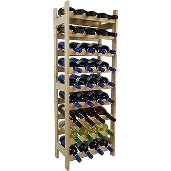 Jago étagère à Vin En Bois De Pin Pour 42 Bouteilles Taille Au