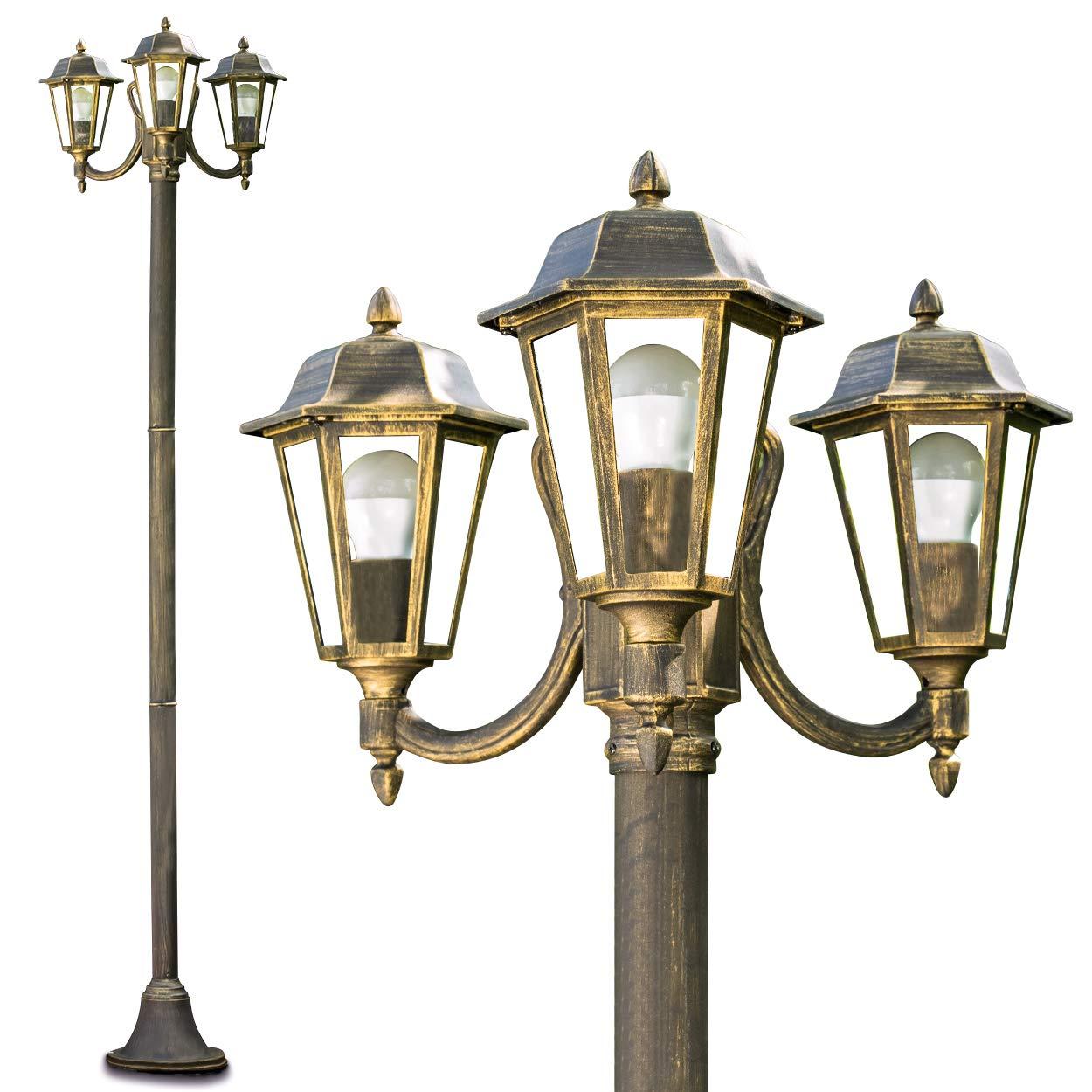Lampione da Esterno con Tre Luci- Illuminazione per Giardino Design ...