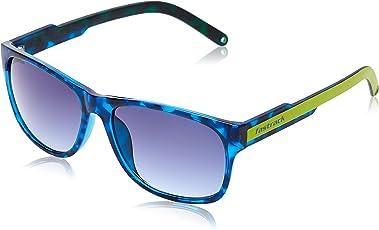 Fastrack Sundowner UV Protected Wayfarer Unisex Sunglasses - (P328BU1 57 Blue lens)