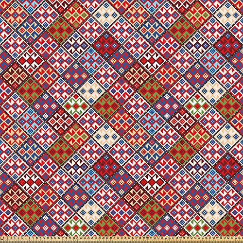 Abakuhaus colorato tessuto a metraggio, tappeto nomade tribale, decorativo tessuto in raso per la casa tessili e mestieri, 3m (160x300cm), multicolore