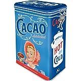 Nostalgic-Art 31114 Cacao Addicted – Idée de Cadeau pour la Cuisine, Récipient avec Couvercle aromatique, Design Vintage, 1,3