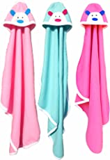 BRANDONN Newborn Original 3PCS. Big Size (36 X 27) Cute Baby Blankets for Babies (C-Green, Hotpink, Pink; Pack of 3)