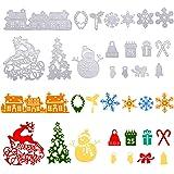 Naler Matrices de Découpe Noël, Kit de 18 Pièces Pochoirs de Découpe pour Scrapbooking, Outil de Gaufrage Décoration DIY Papi