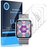 LK [6 Pack] Screen Protector for Apple Watch 40mm SE/Series 4/5/6 and Apple Watch 38mm Series 3/2/1- Bubble-Free Scratch-resi