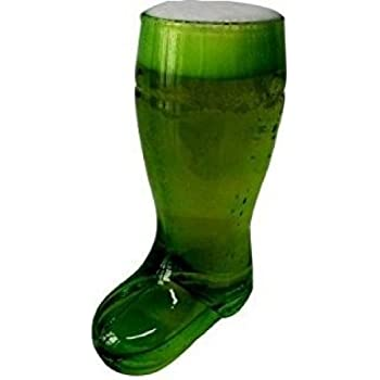 Barraid Green Beer Boot Glass 650 ml Capacity