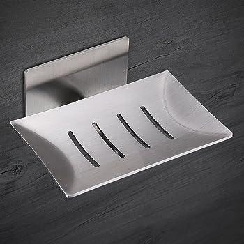 seifenschale wandmontage seifenhalter von hihoddy selbstklebende seifenschale edelstahl. Black Bedroom Furniture Sets. Home Design Ideas