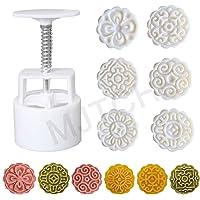 MJTCHE19 Moules à Gâteau de Lune avec Tampons Presse à Biscuit en Forme de Fleur Moule à Lune Gâteau Mooncake Moule…