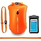 LimitlessXme Schwimmboje & Trockensack — 28l Orange. Sicherheit beim Schwimmen, Open Water und Triathlon. Swimming Buoy, Swim