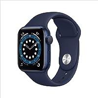 Neu Apple Watch Series 6 (GPS, 40 mm) Aluminiumgehäuse Blau, Sportarmband Dunkelmarine