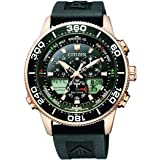 Citizen Mens Solar Powered Watch, Analog- Digital Display and PU Strap - JR4063-12E
