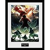GB eye LTD PFC2595 , Attack On Titan Season 2, Key Art, Framed Print 30x40cm, Wood, Various,
