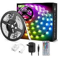 LE LED Strip 5M RGB Set, 5050 SMD 150 LEDs Streifen, 12V, Selbstklebend LED Strips, Flexibel LED Band, LED Leiste, LED…