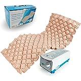 Antidekubitus-Matratze mit Kompressor | Farbe: Beige | mit 130 Luftkammern | Maximalbelastung: 130 kg | für Grad I