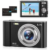 Digitalkamera 2.7K Foto Kamera Digital 44 MP HD Mini Digitalkamera mit 16X Digitalzoom, Wiederaufladbare Fotokamera 2,8…