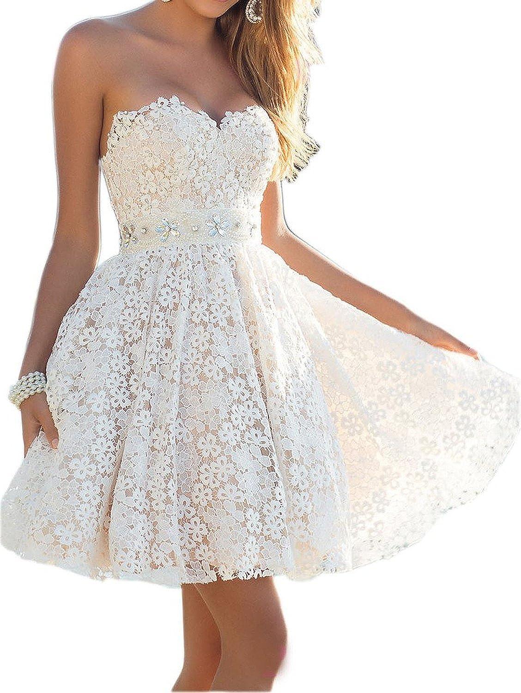 Ungewöhnlich Kurze Spitze Partykleid Ideen - Brautkleider Ideen ...