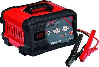 Einhell Batterie Ladegerät CC-BC 15 M (für Batterien von 3 bis 300 Ah, Ladespannung 6 V / 12 V, schutzisolierte Batterieklemmen, LED-Batteriespannungs- und Ladefortschrittsanzeige)