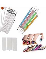 FOK Plastic Nail Art Paint Kit (Random Colour) - Set of 31 Pieces
