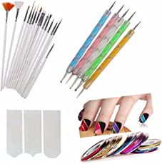 FOK Plastic Nail Art Paint Kit - Set of 31 Pieces