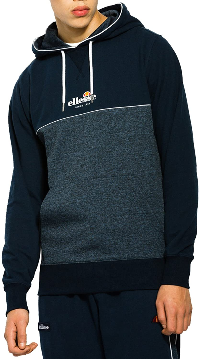 7b4fdee7 Ellesse Darmian Popover Sweat Hoodie Navy - Various Sizes: Amazon.co ...