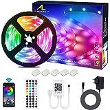 ALED LIGHT LED Strip RGB 5M SMD 5050 150 LED's LED strips, LED tape, 12V voeding & 44 toetsen afstandsbediening, LED strepen
