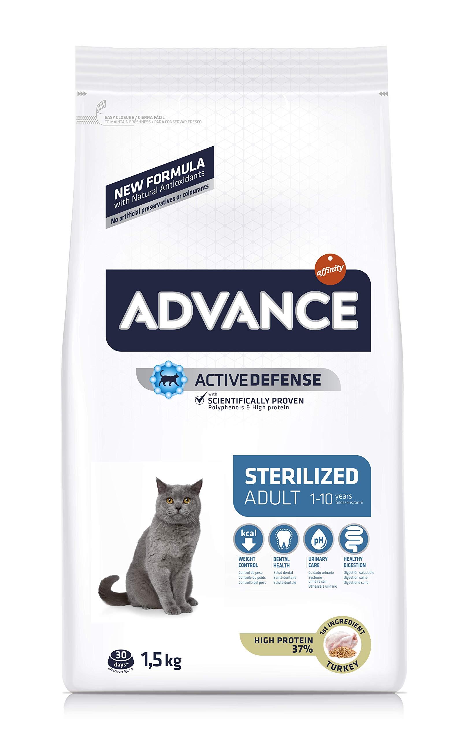 Advance Sterilized-Pienso para Gatos Adultos Esterilizados con Pavo Y Cebada-1.5 Kg