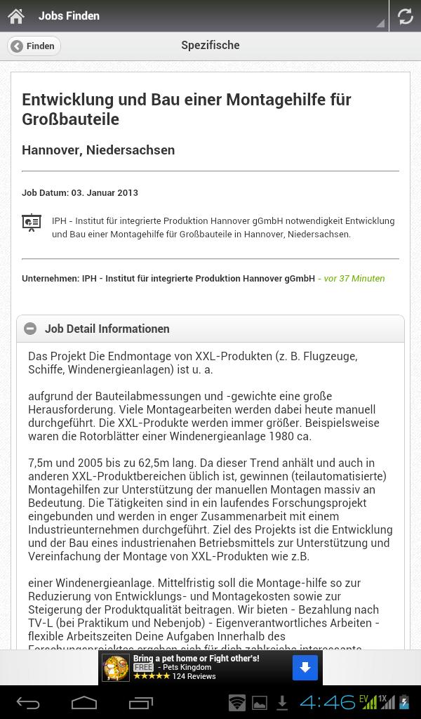 bundesjobs deutschland jobsuche apps f r android. Black Bedroom Furniture Sets. Home Design Ideas