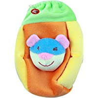 GURU KRIPA BABY PRODUCTS : Present New Born Baby Fancy Cute Feeding Bottle Cover with Soft & Attractive Fancy Cartoon Bottle Cover and Stretchable Soft Velvet Nursing Smiley Teddy Plush Toy for child below Milk Bottle cover with Handel Trusted Brand High Quality (125-150 ML, Green)
