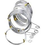Zilveren aluminium knutseldraad, 5 verschillende maten (1 mm, 1,5 mm, 2 mm, 2,5 mm en 3 mm dikte) aluminium draadrollen voor