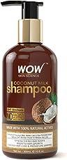 WOW Coconut Milk No Sulphate, Parabens, Silicones, Salt and Colour Shampoo, 300ml
