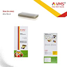 VMS Deluxe Laminating Pouch Film 125 Microns (Lamination Pouch) (100 x 230mm) specially for Aadhar card Set of 2 (200 pouches)