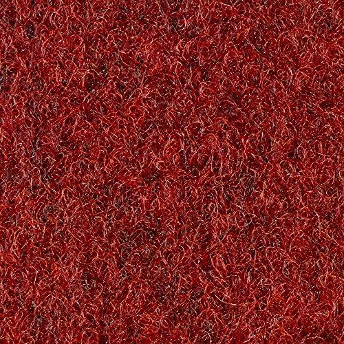 Kunstrasen Rasenteppich mit Noppen   133, 200, und 400 cm Breite   verschiedene Größen   Höhe ca. 7,5mm   rot   Größe: 3 x 4 m
