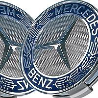 Mercedes Benz lega Centro di rotella di Cap 75mm Blu Allori * * sostitutivo, confezione da 4