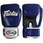 Fairtex Muay Thai Style Training Sparring Gloves 10 oz Blue/Black/White